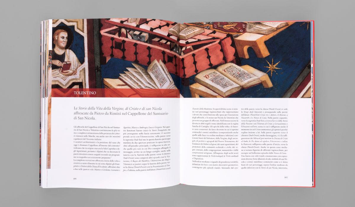 Memphiscom progetto grafico editoriale di Tesori d'arte della provincia di Macerata - Cappellone di San Nicola di Tolentino