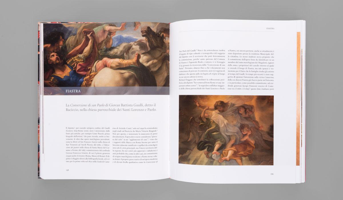 Memphiscom progetto grafico editoriale di Tesori d'arte della provincia di Macerata - Baciccio a Fiastra