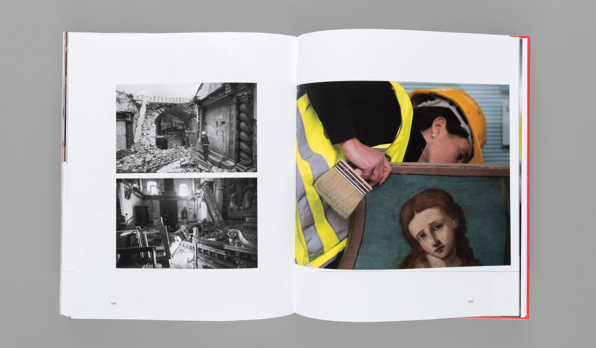 Memphiscom progetto grafico editoriale di Tesori d'arte della provincia di Macerata - recuperi post terremoti 2016